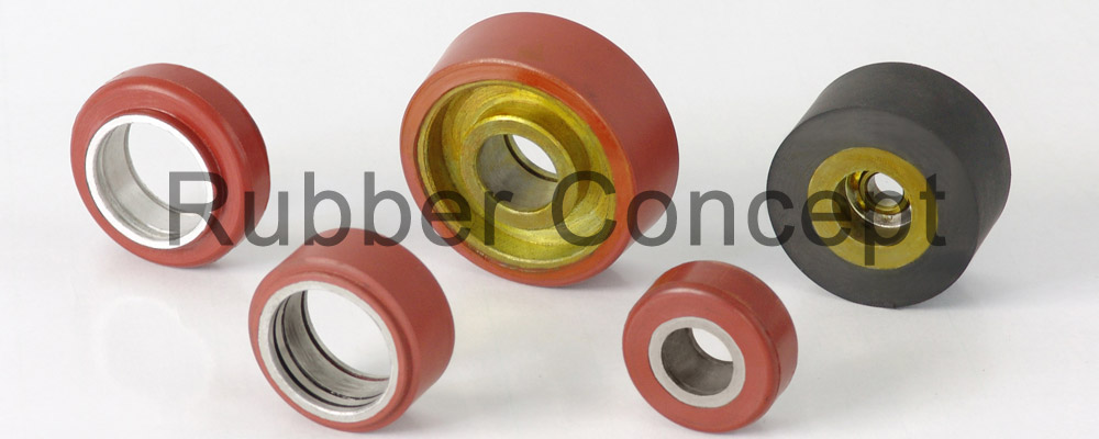 rubber pulley - Idler Roller
